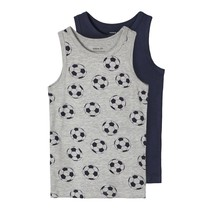 Name It hemd 2-pack grey melange football