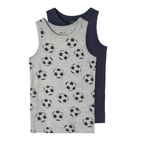 Name It Name It hemd 2-pack grey melange football