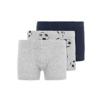 boxers 3-pack grey melange football