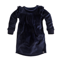 jurk Nadina velvet navy