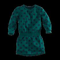 jurk Nienke bottle green/navy/dots