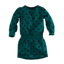 jurk Nienke bottle green/navy/dots