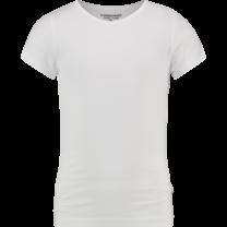 T-shirt ronde hals real white (girls)