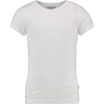 T-shirt ronde hals real white (girls)