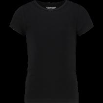 T-shirt ronde hals black (girls)