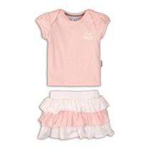 2-delig setje light pink aop+white