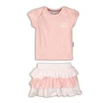 Dirkje 2-delig setje light pink aop+white