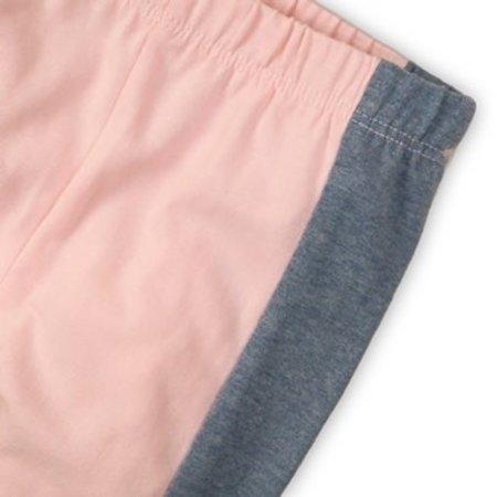 Dirkje Dirkje legging 3/4 light blue melee+light pink