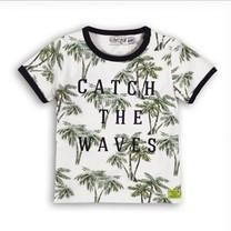 T-shirt white+aop+navy