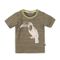 T-shirt light army green+stripe