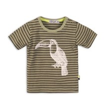 T-shirt light army green+stripe