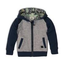 vest navy+grey melange