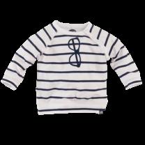 longsleeve Cooper n19 white/navy/stripes