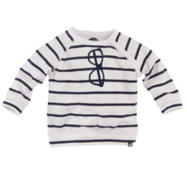 longsleeve Cooper n19 white/navy/stripes
