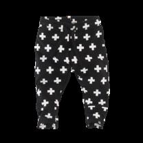 broek Mundo n19 black/white/crosses
