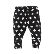 broek Mundo n19 black/white/crosses