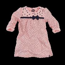jurkje Nella n19 soft pink/navy/dots