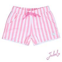 Jubel short streep discodip roze