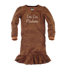 jurk Adalyn cognac/leopard