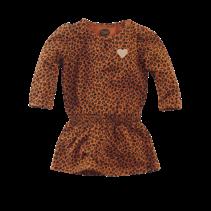 jurkje Amalia cognac/leopard