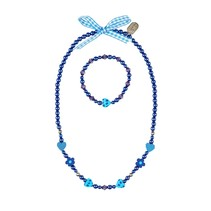 Ketting + armband Audrone blauw