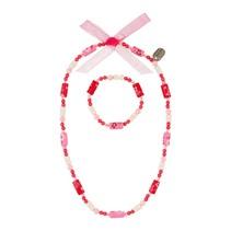 Ketting + armband Tessy roze
