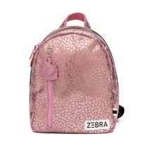 Zebra trends rugzak (s) pink metallic leo