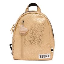 Zebra trends rugzak (s) gold metallic leo