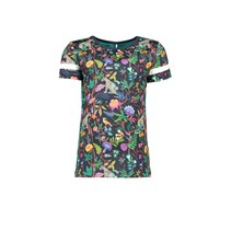 T-shirt with jungle aop and printed stripe on sleeve jungle girls