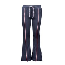 broek flaired with contrast piping oxford blue