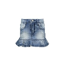 rok with ruffle middle denim