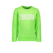 trui fluo crew neck with logo gecko green