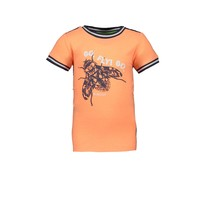 T-shirt solid front panel orange glo