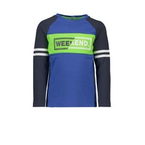 longsleeve with contrast sleeves cobalt blue