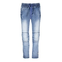 broek with elasticated waistband and cord middle denim