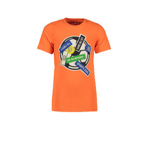 T-shirt football shocking orange