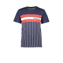 T-shirt vertical stripe navy
