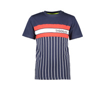 T-shirt vertical stripe navy