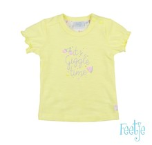 Feetje T-shirt it's giggle time geel - Sweet By Nature
