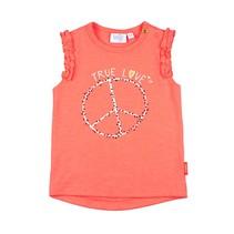 T-shirt true love koraal - Kiss