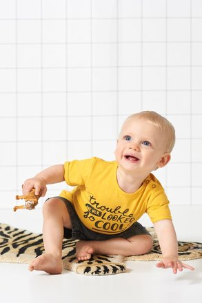 Feetje T-shirt trouble never looked geel - born to be wild
