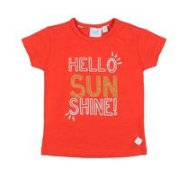 T-shirt hello sunshine rood - Funbird