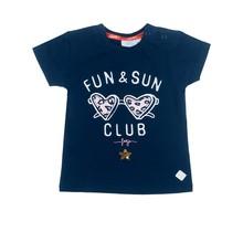 Feetje T-shirt fun & sun marine - Funbird