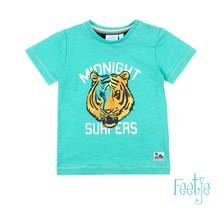 Feetje T-shirt midnight surfers mint - Mini Wanderer