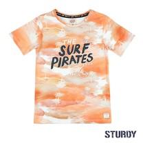 T-shirt the surf pirates oranje - Treasure hunter