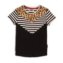 T-shirt black+white+stripe