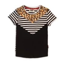 T-shirt black+white+stripe