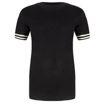 T-shirt col black