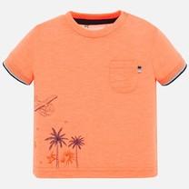 T-shirt positioned neon mango