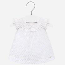 blouse voile ruffled white